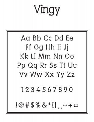 Outside Circle Font