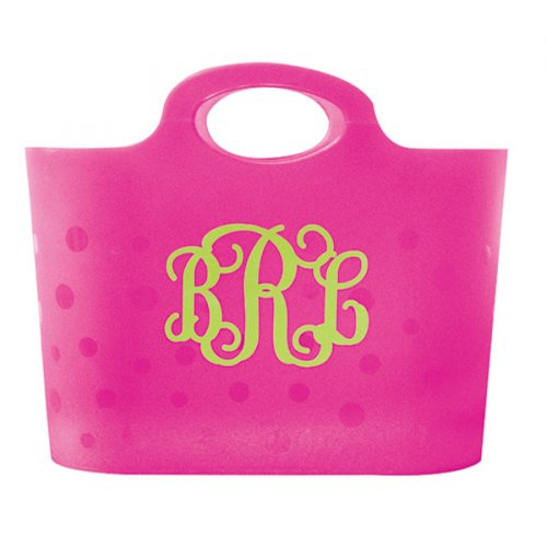 Bubble Storage Tote Pink