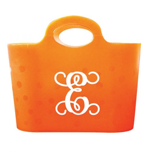 Bubble Storage Tote Orange
