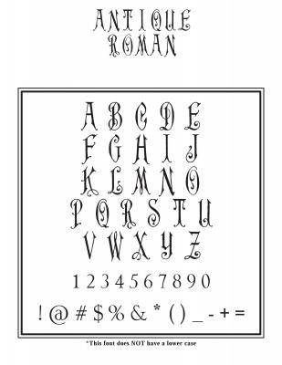 Center Monogram Font