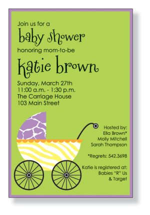 baby kids invitations