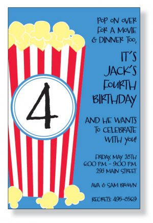 All birthday invitations popcorn birthday invitation filmwisefo