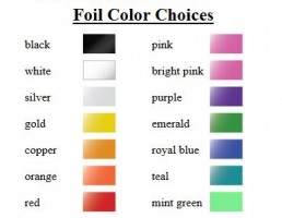 Foil Stamp Colors