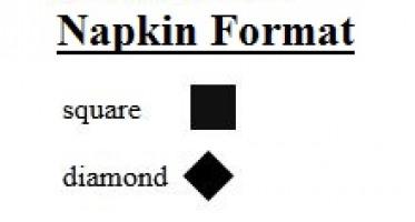 Napkin Orientations