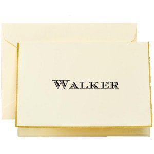 personalized foldover note cards - Personalized Embossed Note Cards
