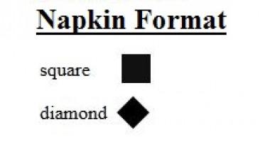 Napkin Orientation