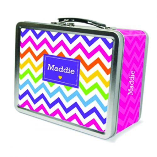 Personalized Lunch Box Rainbow Chevron