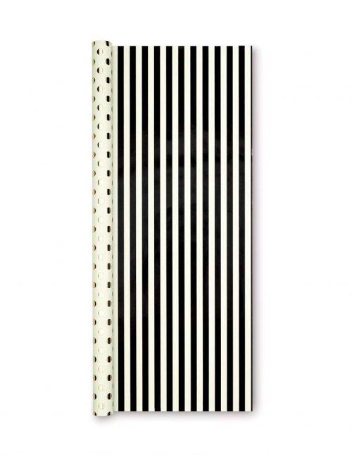 sc 1 st  Swoozies & kate spade new york black stripe/gold dots reversible gift wrap