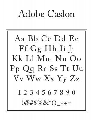 Bottom Text Font