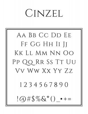 Center Text Font