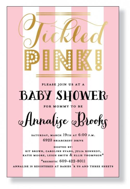 Tickled Pink Invitation