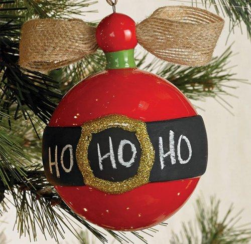 Chalkboard Ornament - Santa Belt