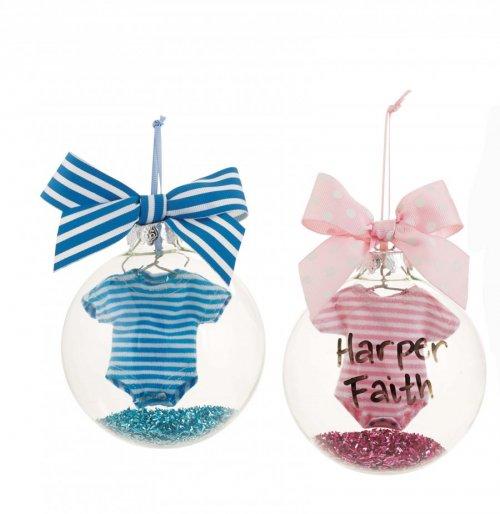 Pink Baby Onsie Ornament