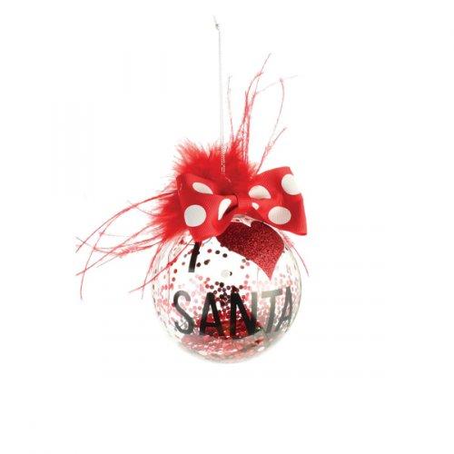 I Heart Santa Ornament