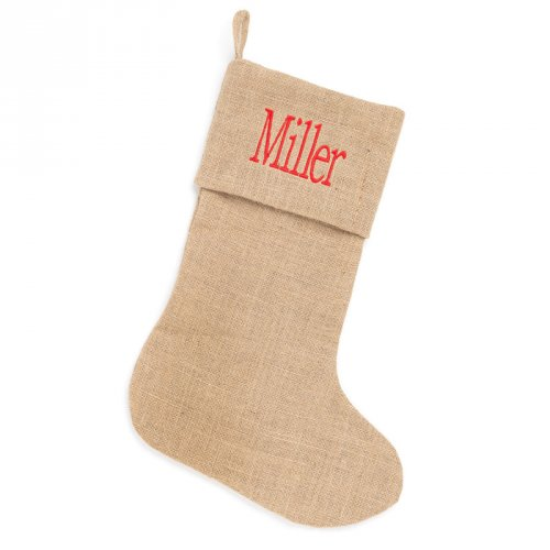 burlap christmas stocking - Burlap Christmas Stocking