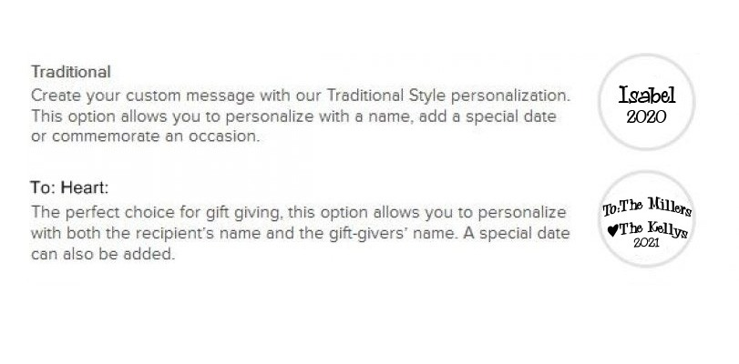Ornament Personalization