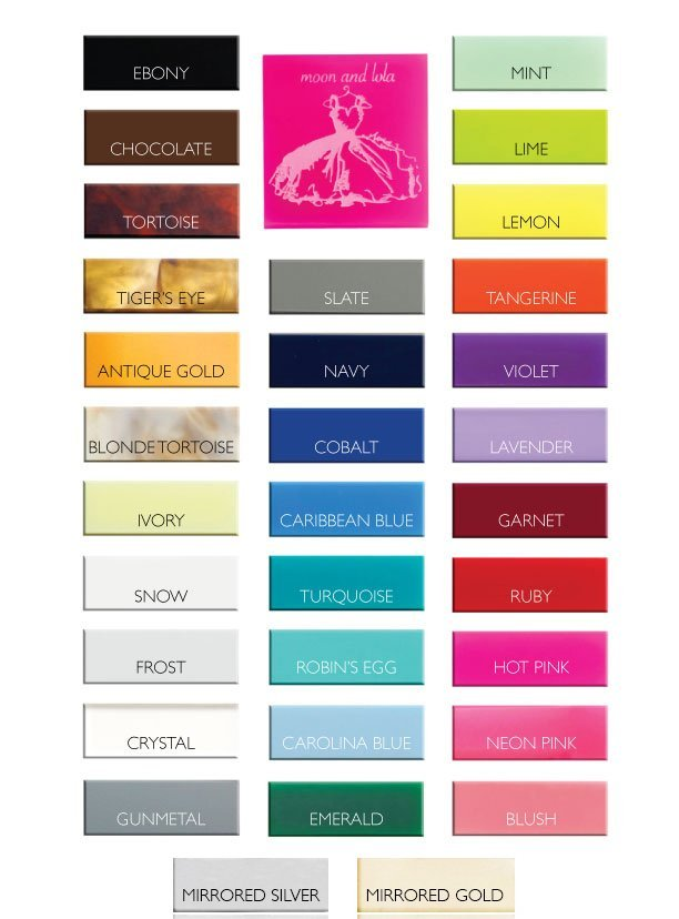 Acrylic Colors Chart