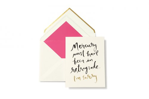 Kate spade new york mercury in retrograde greeting card m4hsunfo