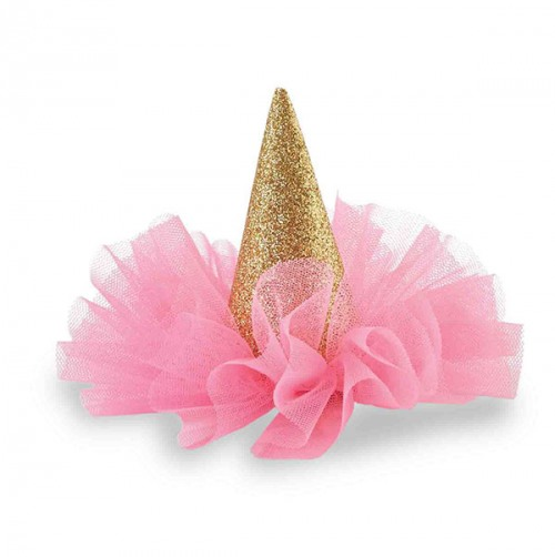 Birthday Glitter Mini Party Hat Hair Clip