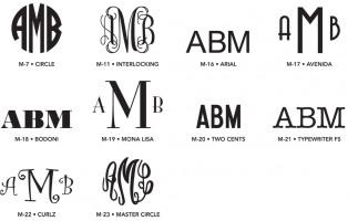 Standard Monograms