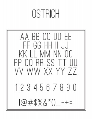 Address Font