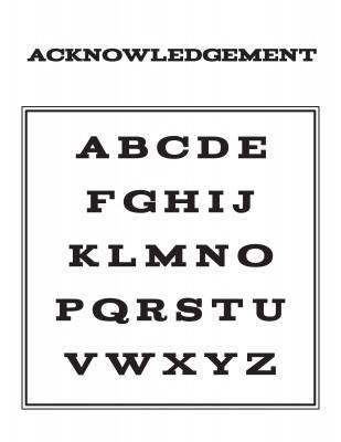 Left/right Monogram Letters