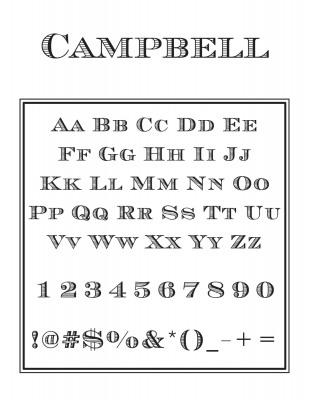 Center Monogram Letter Font