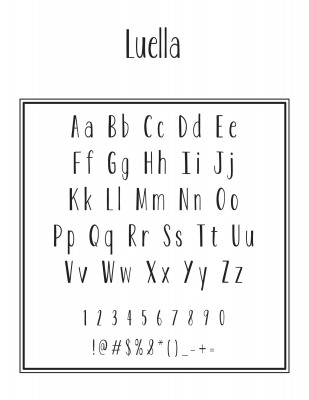 Top And Address Font