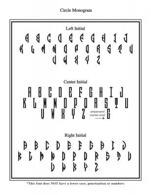 Left Monogram Font