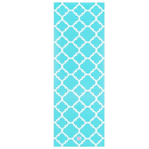 Lockerlookz Aqua Glitter Quatrefoil Locker Wallpaper