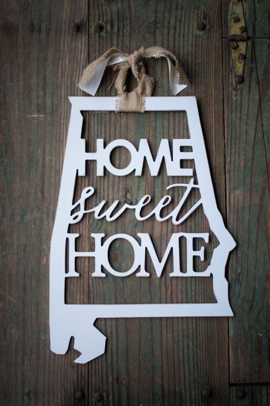 Home Sweet Home State Door Hanger