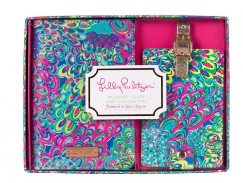 Lilly Pulitzer Lilly S Lagoon Passport Cover And Luggage Tag Set