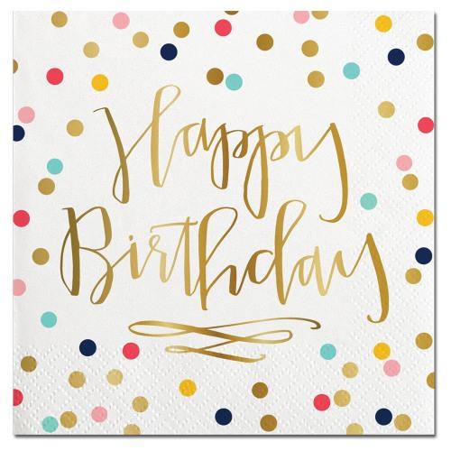 6769b5e45dbb Happy Birthday Confetti Foil Beverage Napkins
