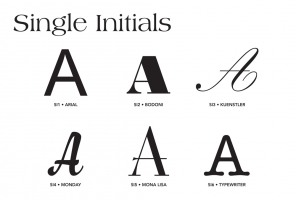 Single Initials Styles