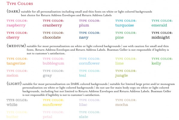 Type Colors