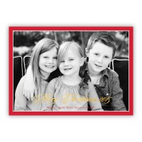 Red Border W/gold Foil