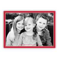 Red Border W/silver Foil