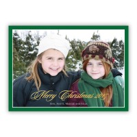 Evergreen Border W/gold Foil