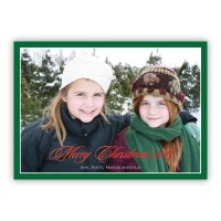 Evergreen Border W/red Foil