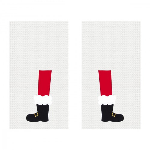 Santa Boots Tea Towel Set 2