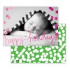Happy Green With Hot Pink Foil