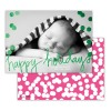 Happy Pink With Green Foil
