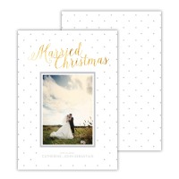 Light Grey With Gold Foil