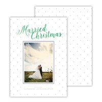 Light Grey With Green Foil