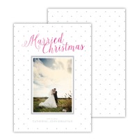 Light Grey With Hot Pink Foil