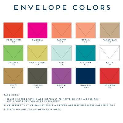 Envelope Colors