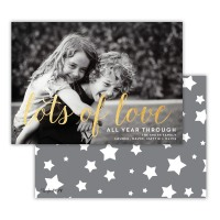 Dark Grey With Gold Foil