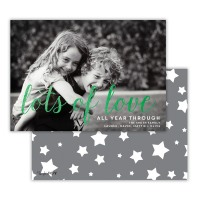 Dark Grey With Green Foil