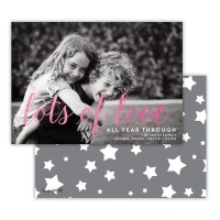 Dark Grey With Hot Pink Foil