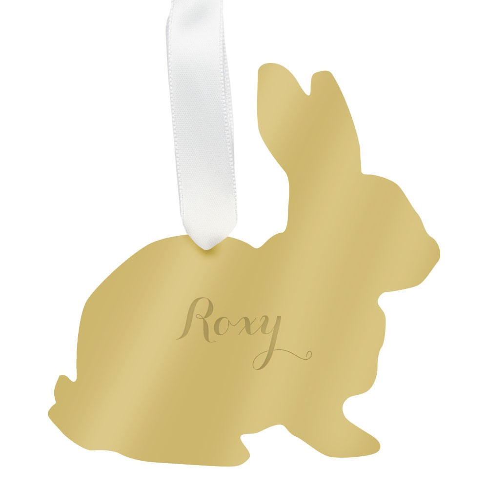 Personalized pet ornament - Gold Mirror
